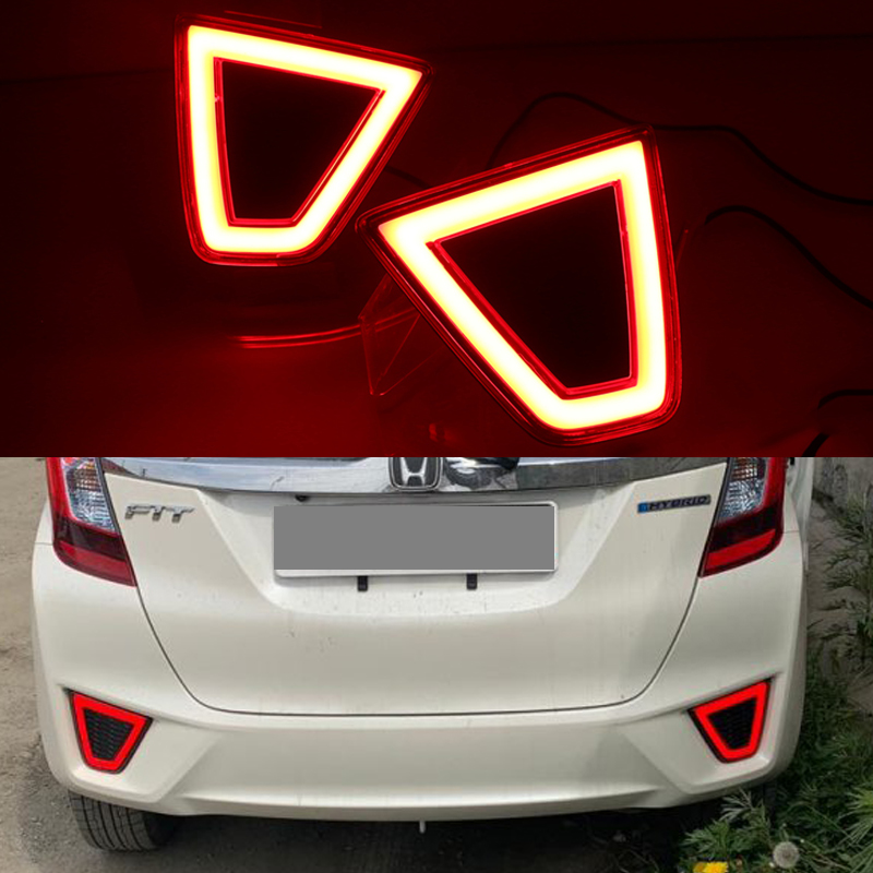 For <font><b>Honda</b></font> <font><b>Fit</b></font> Jazz 2014 <font><b>2015</b></font> <font><b>2016</b></font> SNCN LED Rear Bumper Reflector Light Rear Rear Driving Braking Lamp image