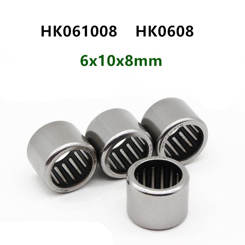 6x10x8mm 2 PCS HK061008 Needle Roller Bearing 6mm x 10mm x 8mm