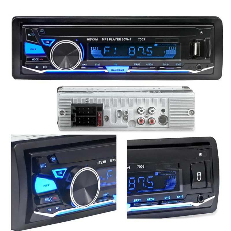 1din รถบลูทูธวิทยุ FM สเตอริโอ Mp3 USB SD MMC AUX Card เครื่องเล่น Audio