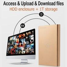 Obudowa napędu NAS zdalny dostęp 2.5 cala HDD/SSD NasCloud H2 szybkość USB3.0 Port serwer Nas dołączona pamięć masowa Nas Hdd Backup