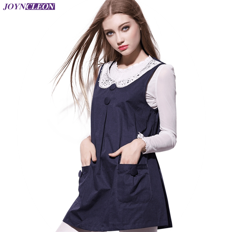 Recommend Electromagnetic Radiation Protective Maternity Clothes EMF Shielding Round Neck Lace Sweet Metal Fiber Dress