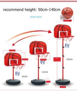 Детский баскетбольный набор для игр, регулируемая подставка для баскетбола, держатель для баскетбола, мини-игра для детей в помещении, игры ...