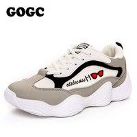 GOGC printemps plate-forme tenis baskets femme chaussures plates femmes sliponey femme chaussures chaussures de Sport chaussures décontractées chaussures de course G658