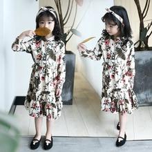 Girls Dresses 2020 New Spring Kids Girl Dress Flower Long Sleeve Princess Dress Casual Children Clothing Party Dresses for Girls