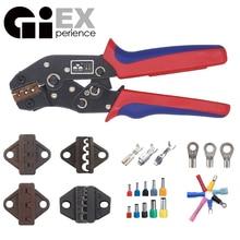 Ferramenta de compressão, ferramenta de catraca de fio e moldes intercaláveis para conectores de termo não isolados terminais de arruela