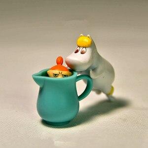 Image 3 - دمية لغز المتتالية مومين الأسرة Jenga طبقة مايكرو لتقوم بها بنفسك المشهد بك نموذج للأطفال هدايا عيد الميلاد