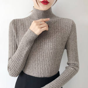 2019 New women's sweater women's pullover female build winter style lady tight knit unlined upper garment of cultivate morality