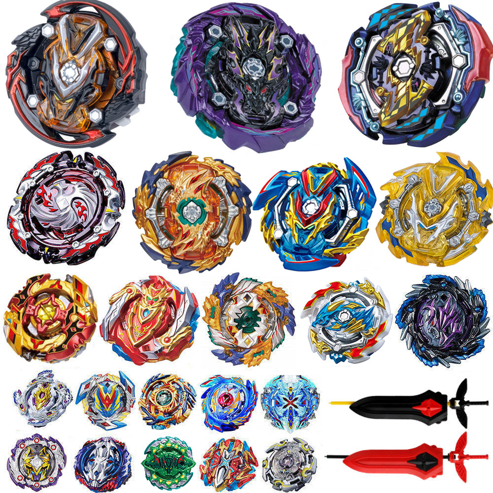 Tops Launchers <font><b>Beyblade</b></font> metal fusion <font><b>B</b></font>-143 Burst GT Toys Arena Metal God Bayblade Spinning Top Bay Bey Blade Blades Toy image