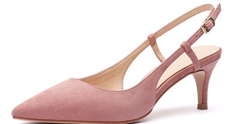 YEELOCA 2020 Spring 6CM Thin High Heels Slingbacks a001Female Pointed Toe Solid Flock Women's XZ0289