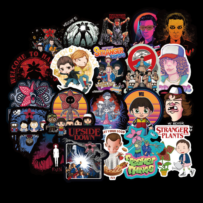 50, 100, 150 PCS Stranger Things Stickers Do Not Duplicate Car Motorcycle Trolley Box Pegatina Cartoon Graffiti Kids Sticker