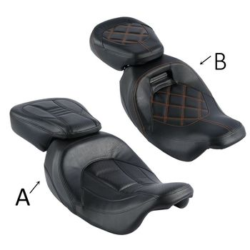 Motorcycle Rider Passenger Seat For Harley CVO Street Glide 2010-2012 2015-2019