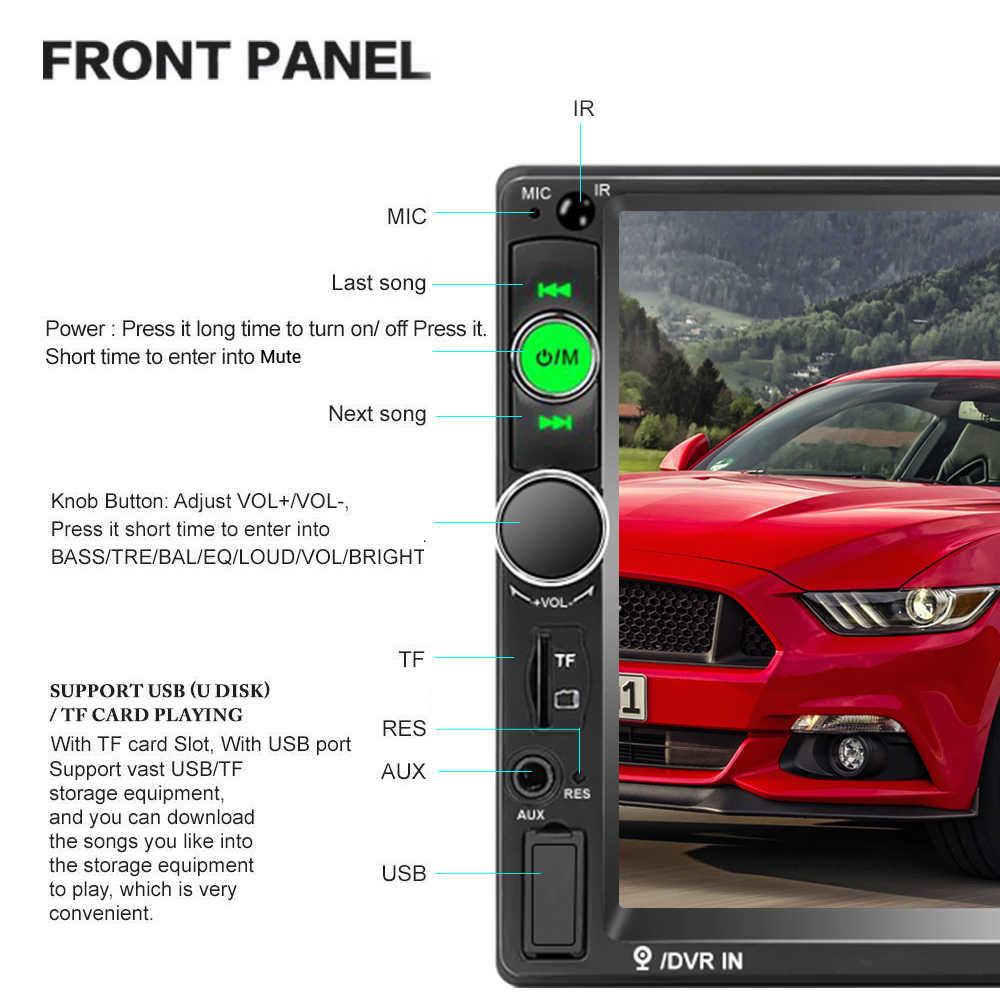 """AMPrime 2din Autoradio 7 """"lecteur HD MP5 écran tactile affichage numérique Bluetooth Autoradio multimédia lien miroir FM média stéréo"""