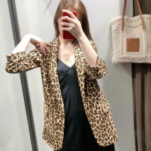 Spring and summer women's small suit 2020 New Casual Cropped Sleeve Leopard Jacket Fashion small suit Feminine popular