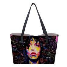 HaoYun Ladies Top-handle Bags African Girls Prints Pattern Girls Luxury Travel Totes Bags Female New Arrival PU Girls Handbags недорого