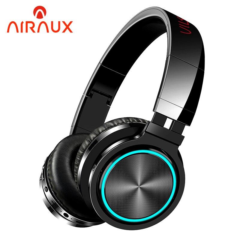 BlitzWolf AIRAUX AA-ER1 słuchawki bezprzewodowe z bluetooth radio HiFi gamingowy zestaw słuchawkowy światło RGB HD otrzymać telefon zwrotny od karty TF słuchawki dla komputer dla graczy