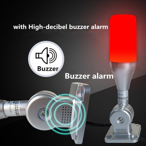 Image 4 - 10 unids/lote lámpara de advertencia Led de una capa Tricolor 24V alarma torre de señal Luz de precaución para máquinas CNC Indicador de luz de seguridad de fallo
