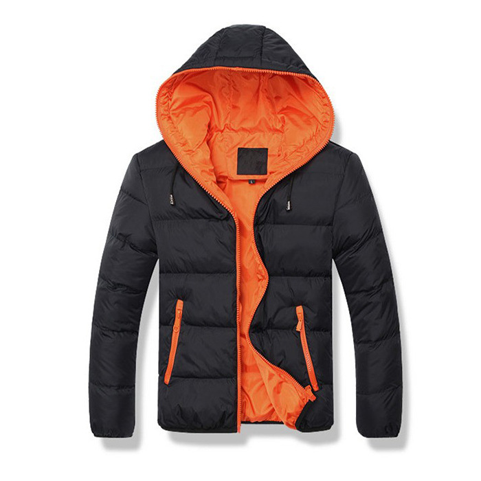 2019 New Style Classic Men's Hooded Cotton-padded Clothes Korean-style Thick Warm Short Cotton-padded Clothes Youth Jacket