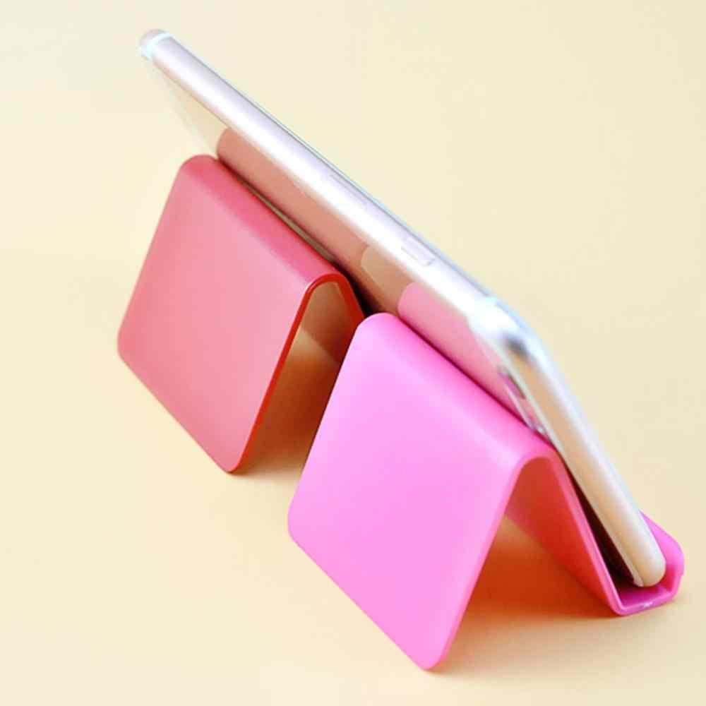 Nieuwe Sfeer Draagbare Visitekaarthouder Candy Kleur Mobiele Telefoon Lui Mobiele Telefoon Stand Professionele