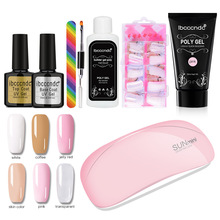 Ibcccndc 30g Poly Gel Kit Quick Nail Extension Acrylic Builder Gel Slip Solution UV LED Nail Lamp Set Polish Gel Kit Nails Art gelike 60g uv gel poly gel nails polygels nails builder poligel nails extension acrylic nail art crystal uv resin builder