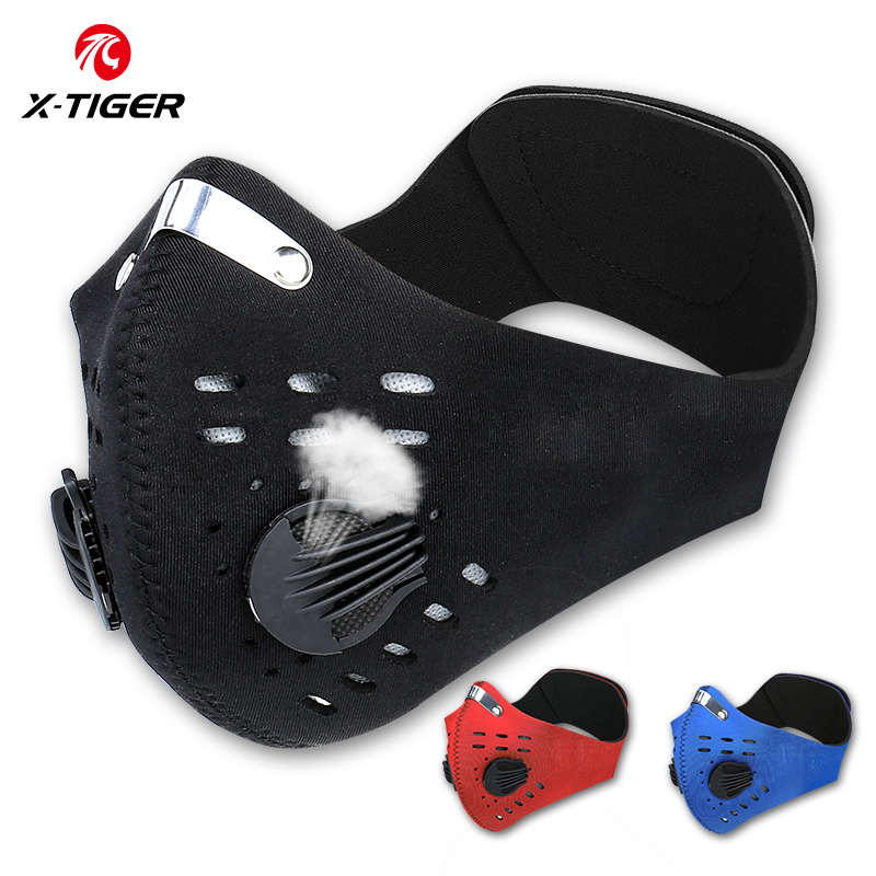 X-TIGER Cycling Face Mask Anti-Pollution Cycling Mask With KN95 Filter Activated Carbon Filters Antiviral Outdoor Sports Mask