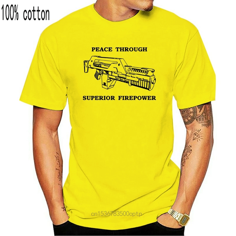 Новинка 2020 забавные пришельцы футболка мир через превосходную Firepower Ripley Hicks Xenomorph футболка
