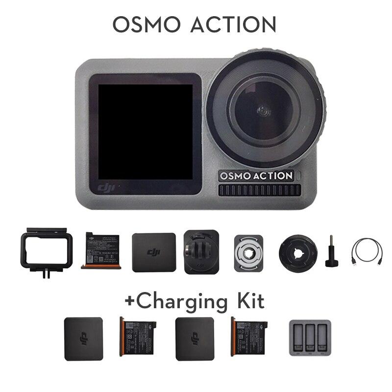 Экшн-камера DJI Osmo, Спортивная камера с двумя экранами, водонепроницаемая камера RockSteady с стабилизацией, с Медленным движением, оригинальная н...