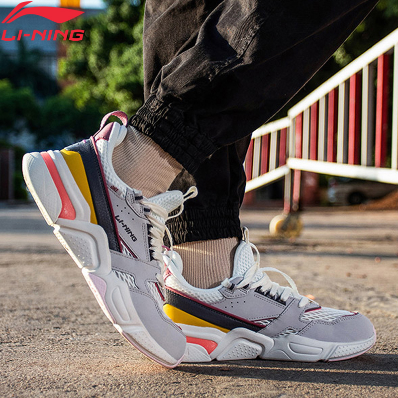 (Break Code)Li-Ning Women 001 R-1 Lifestyle Shoes Retro Wearable LiNing Li Ning Sport Comfort Dad Shoes Sneakers AGCP082 YXB310