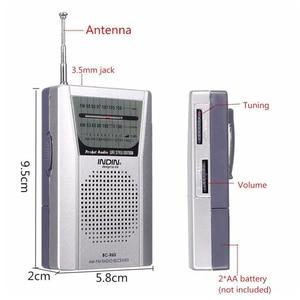 Image 5 - 3.5mm Earphone Jack Portable BC R60 Pocket Radio Telescopic Antenna Mini Radio World Receiver with Speaker
