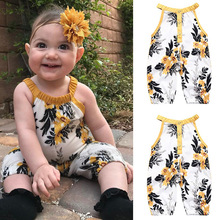 Girls Clothes Baby Floral Sleeveless Summer Fashion Jumpsuit Romper Outfits Set