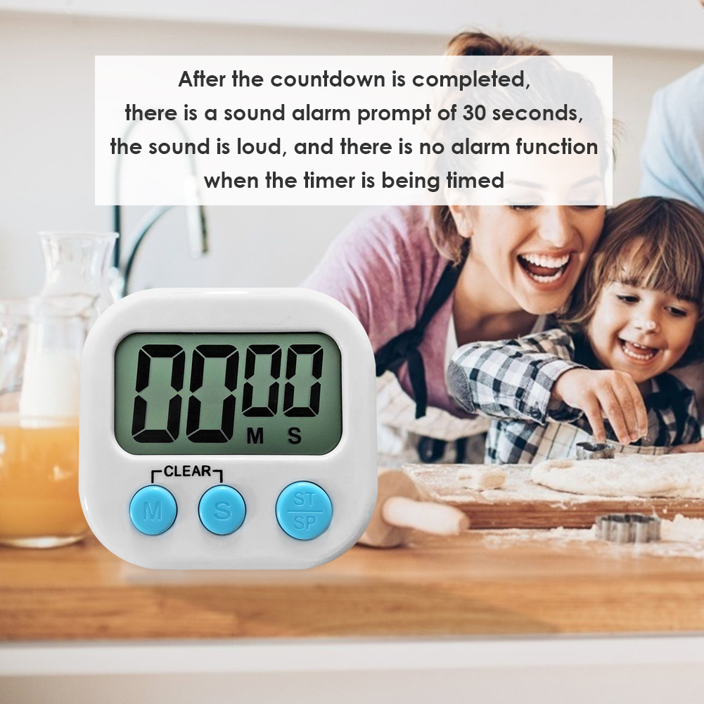 Magnetic LCD Electronic Screen Timer Cooking Digital Display Table Countdown Alarm Clock Stopwatch with Stand for Kitchen