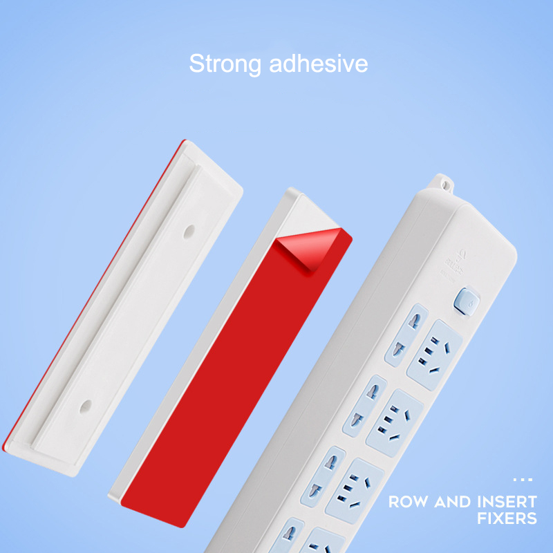 Magic Plug Holder Seamless Punch-free Plug Sticker Wall Fixer Power Strip Holder For Sockets TUE88