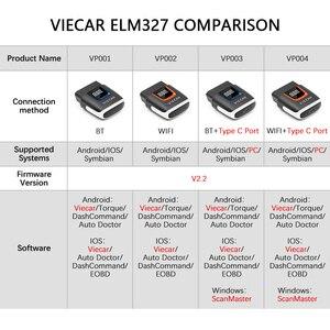 Image 2 - Viecar VP003 ELM327 bluetooth 4.0 PIC18F25K80 obd 2 OBD2 wifi elm 327スキャナの自動ツールODB2車の診断のための/ios
