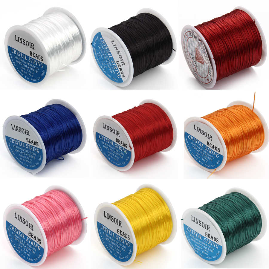 2 Rolls Elastic Stretch Beading String Cord Wire Jewelry Beads Making Accessory