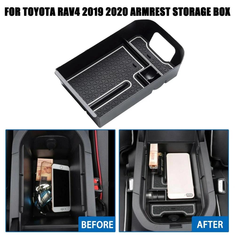 For Toyota RAV4 2019 2020 Center Console Organizer Armrest Storage Box Tray 1PC