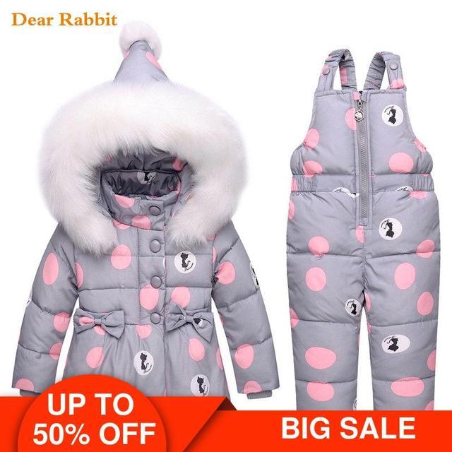 2020新冬子供服セット暖かいパーカーダウンジャケット女の赤ちゃんの服子供のコートの雪の摩耗子供スーツ