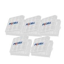 5 pçs pkcell aa aaa caixa de bateria de plástico caso titular caixa de armazenamento branco caso capa titular caixa de armazenamento de bateria