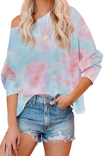New Fashion Tie Dye Printing Long Sleeve Pullover T-shirt for Women T shirt Autumn/ Spring 2021 Loose Causal Plus Size 2XL