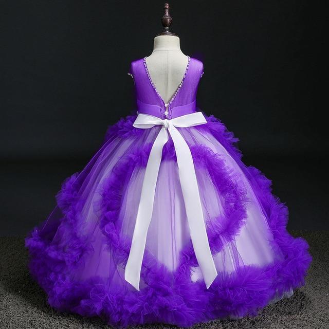 платья с рюшами и цветочным узором для девочек; платье торжеств фотография