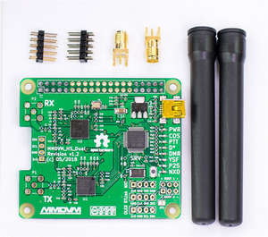 For V1.3 MMDVM_HS_Dual_Hat Duplex Hotspot  board +2pcs Antenna Support P25 DMR YSF NXDN For Raspberry pi