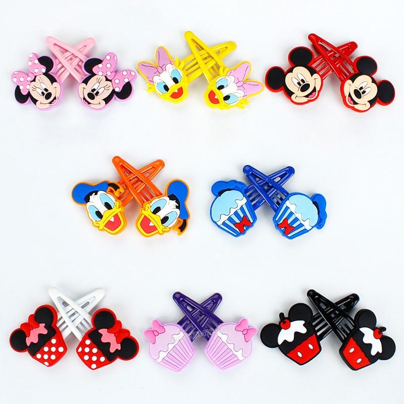 Disney серии зажим с рисунком Микки и Минни детская заколка для волос для девочек, заколка зажим для волос аксессуары для волос Мультфильм взры...