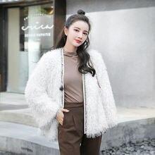 Женское пальто из искусственного меха новинка на осень и зиму