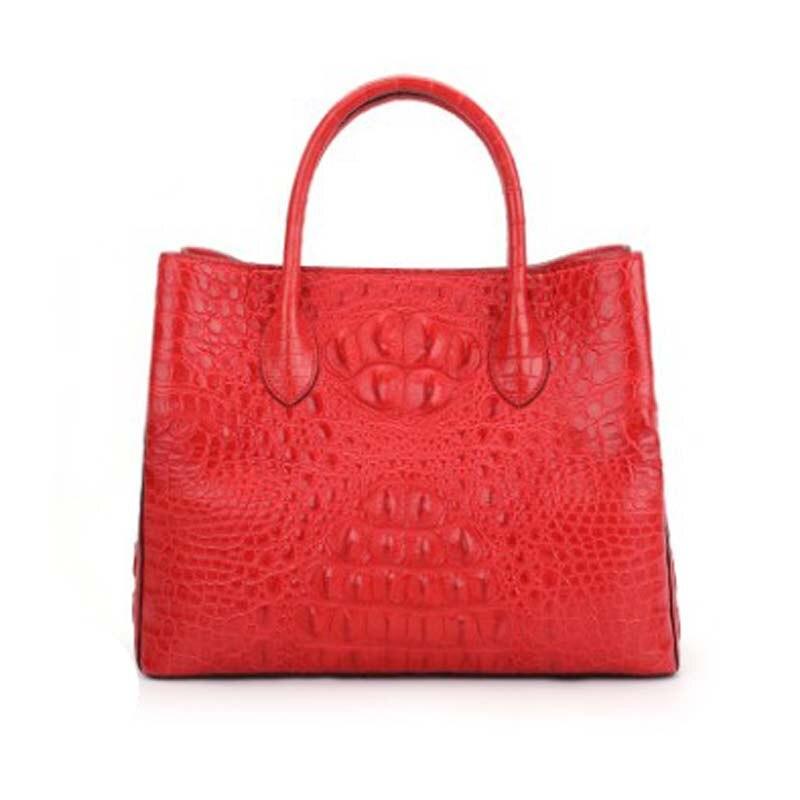 dongou  crocodile  Female bag  Genuine crocodile leather  Inclined shoulder bag  crocodile   Back part  bone skin women handbag