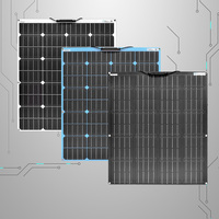 Flexible Solar Powered Panels 100W Solar Panel Kit for Home Solar Power System for Camping Car 18V Photovoltaic Kits