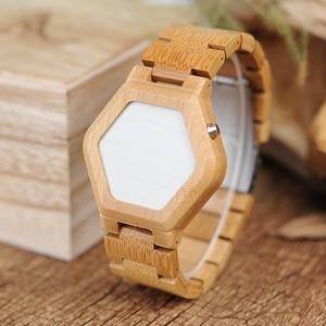 Image 4 - relogio BOBO BIRD LED Wood Mens Watches Digital Watch Men Night Vision Calendar Quartz Wristwatch Minimal Time Display Dropship