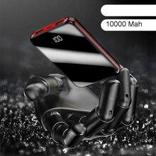 Vogek 10000 мАч Мини Внешний аккумулятор с зеркальным экраном, цифровой дисплей, два порта usb, внешняя батарея, портативное зарядное устройство, повербанк