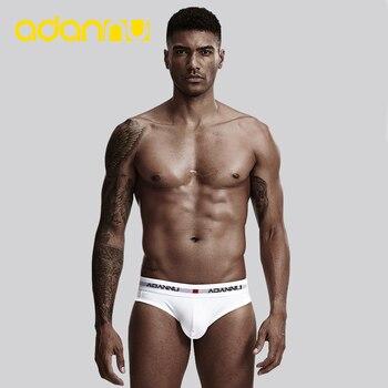 ADANNU Brand Sexy Underwear Men Briefs Cotton U Pouch Breathable Comfortable Underpants Male Panties Slip Homme - discount item  21% OFF Men's Underwears