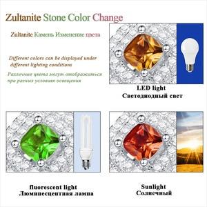 Image 2 - Kuololit Diaspore Sultanite Gemstone Ring for Women Solid 925 Sterling Silver Color Change Turkey zultanite Wedding Fine Jewelry