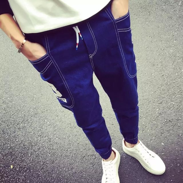 Autumn Clothing New Style Men's Jeans Trousers Occident Fashion Harem Pants Casual Slim Fit Pants Jeans Fashion Men's Wear