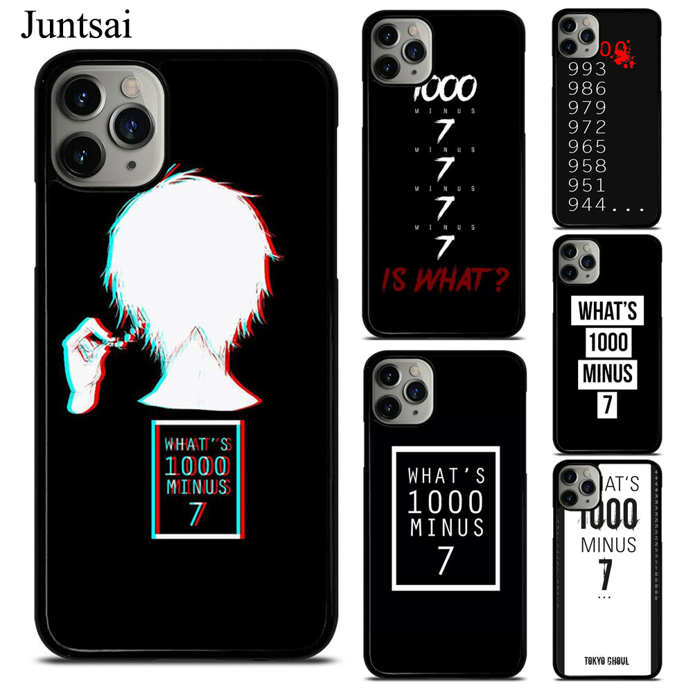 What's 1000 Minus 7 Tokyo Ghoul Quote Case For iphone 12 Mini 11 Pro Max X XR XS Max SE 2020 6s 7 8 Plus 5 Cover