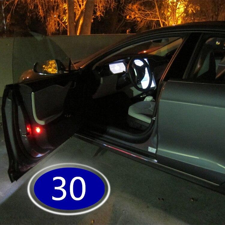 Porta do carro sem fio fantasma sombra luz 30 interior do carro lâmpada luz 2 pçs